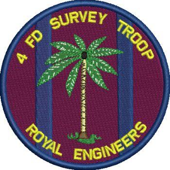 4 FD SURVEY TROOP Embroidered Badge